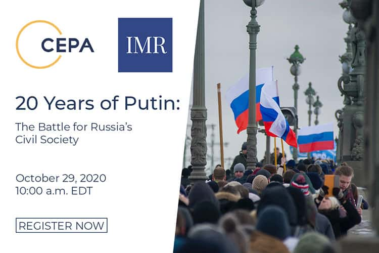 IMR-СEPA Virtual Event: 20 Years of Putin and the Battle for Russia's Civil Society