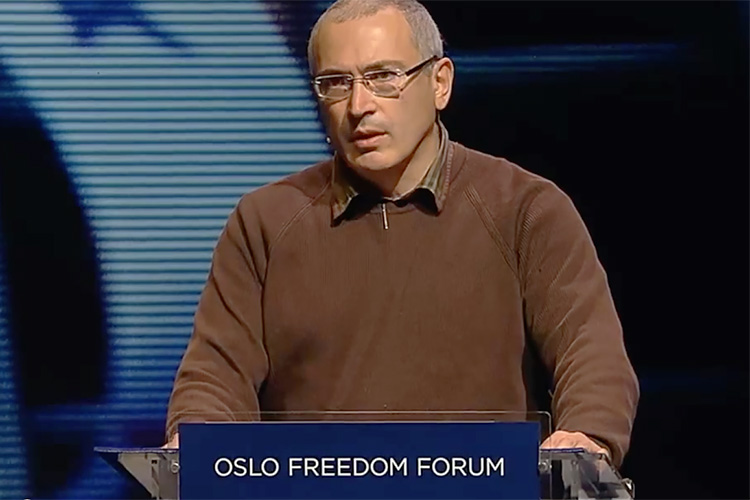 Mikhail Khodorkovsky Speaks in Oslo in Defense of Russia's Political Prisoners