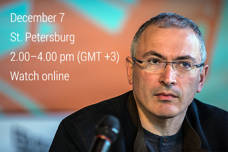 Open Russia to Host Teleconference with Mikhail Khodorkovsky