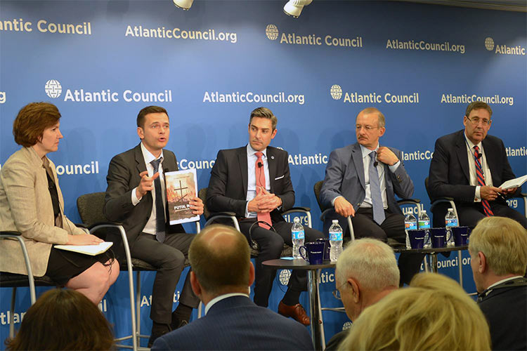 Reports on Russia's War in Ukraine Are Presented in Washington D.C.