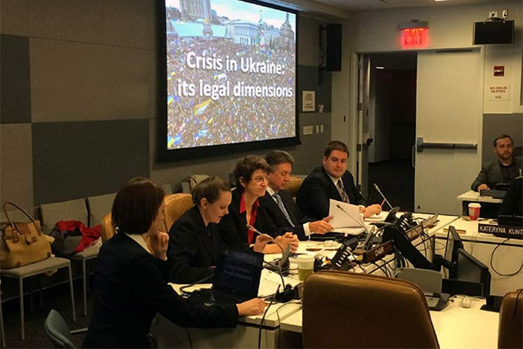 Report on legal aspects the Ukrainian crisis presented at the United Nations